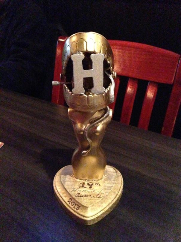The 2013 Harold Award